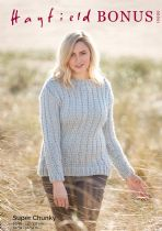 Hayfield Bonus Super Chunky Knitting Pattern - 10000 Sweater